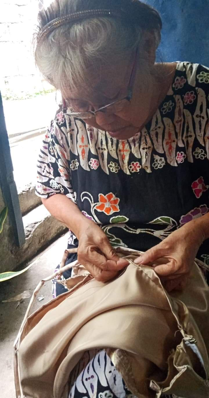 grandma makes handsewn prom dress