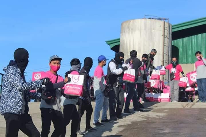 FoodPanda riders relief goods