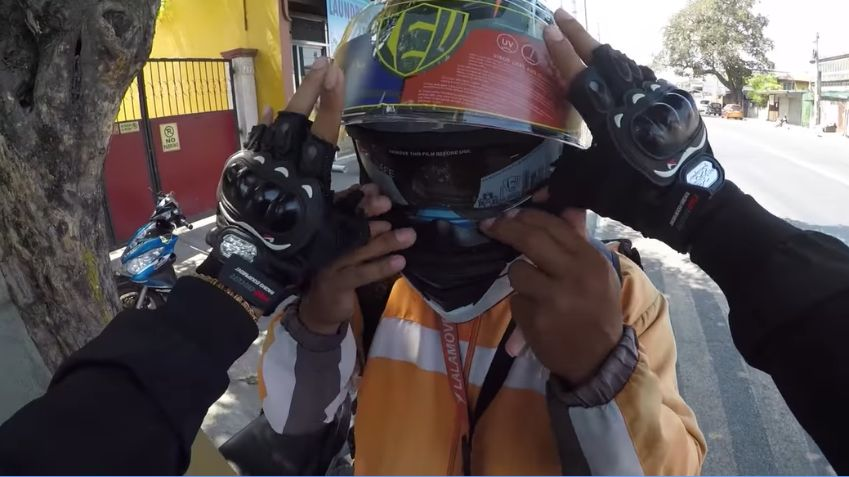 vlogger gives brand-new helmet