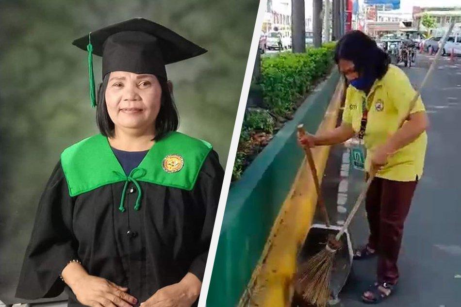 streetsweeper graduates business degree